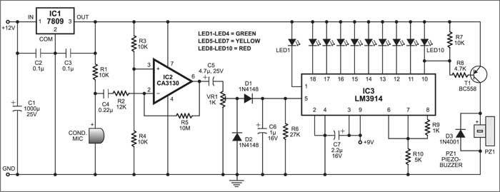 traffic light control system circuit diagram simple traffic light