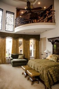 Mediterranean bedroom with an indoor balcony | House ideas ...
