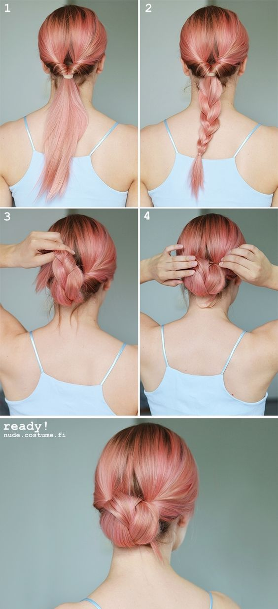 25 Best Ideas About Easy Chignon Tutorial On Pinterest Chignon