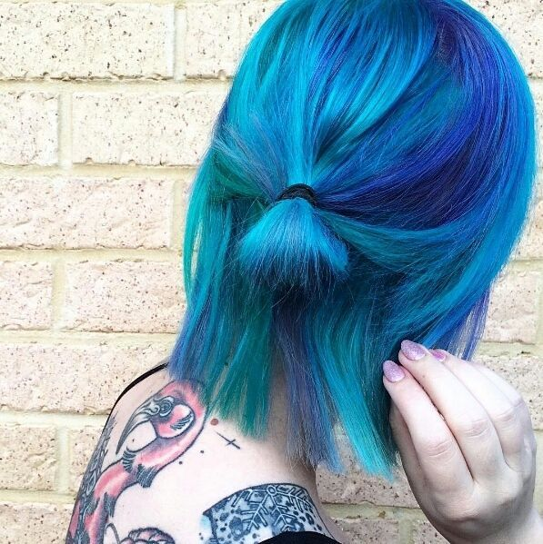 25 Best Ideas About Short Blue Hair On Pinterest Short Hair