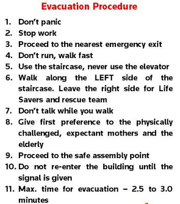 earthquake drill procedures Fire Drill Procedures