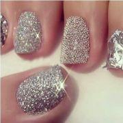 blinged nails bling