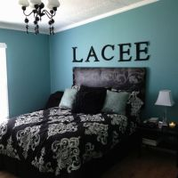 Black, White, and Turquoise Bedroom Trinity is loving Blue ...