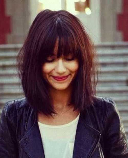 25 Best Ideas About Long Bob With Fringe On Pinterest Short