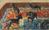 Edvard Munch, Five Puppies on the Carpet, 191921, Oil on ...
