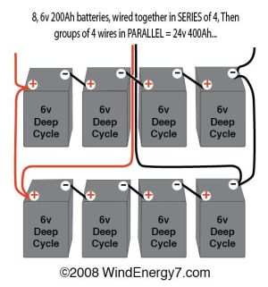 wiring multiple 6 volt batteries together |  but NOT