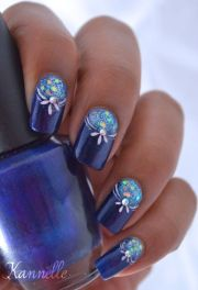 1000 ideas navy nail art