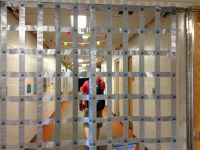 Duct tape a jail cell. | Halloween Indoor Decor ...
