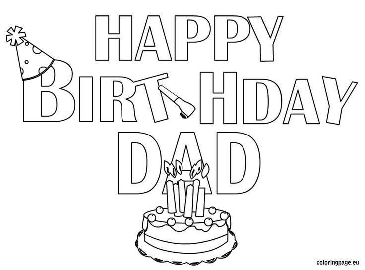 Happy Birthday Dad coloring pageDads Printables, Happy