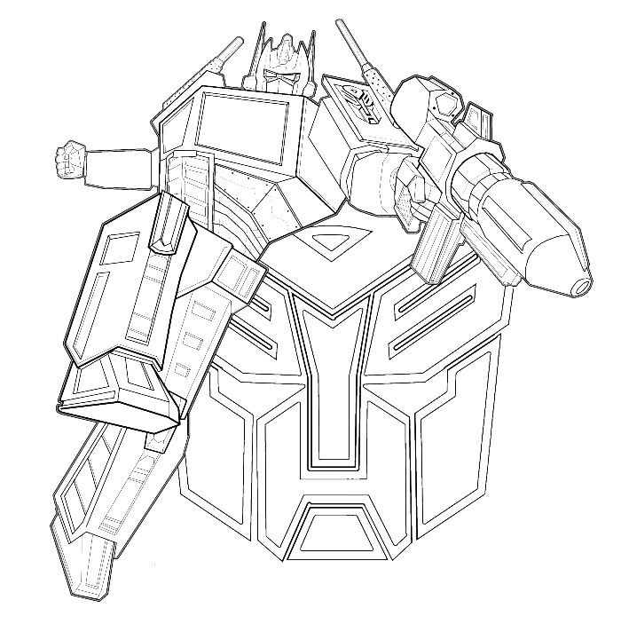 Transformers Was An Evil Enemy Firing Coloring Page