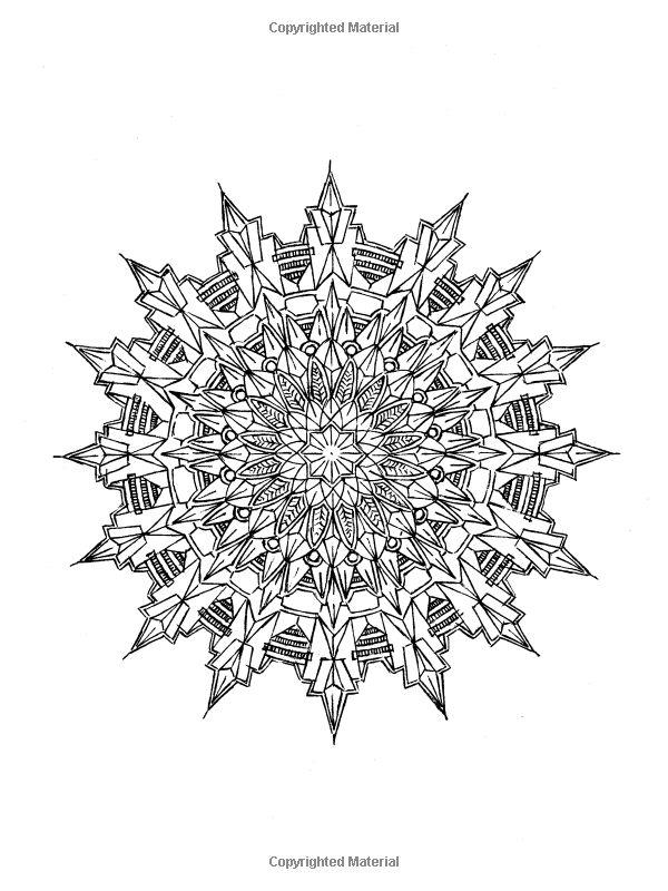 Kaleidoscopic Design Coloring Book (Dover Design Coloring