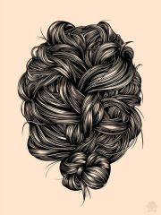 hair illustration ideas