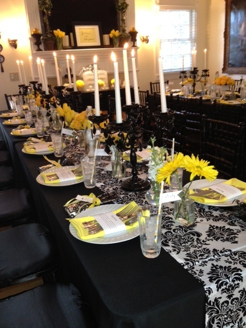 Black White And Yellow Table Decor ENTERTAINING