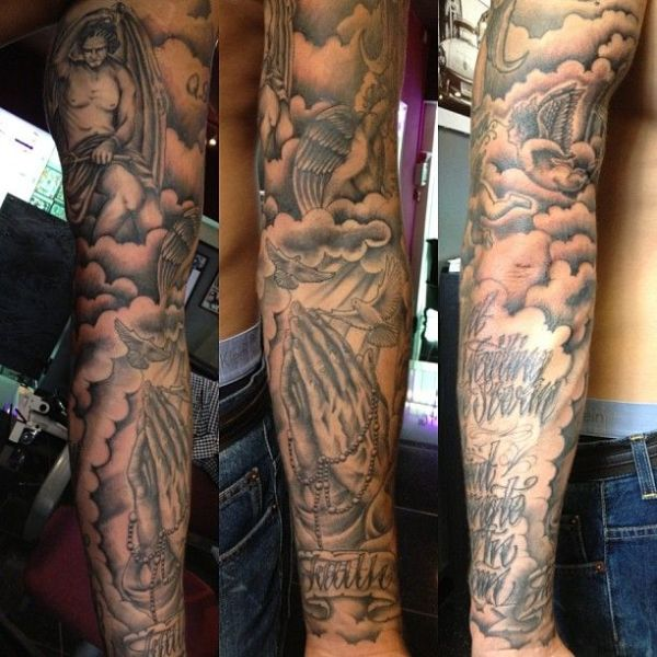 20 Praying Hands Tattoos Forearm Clouds Ideas And Designs