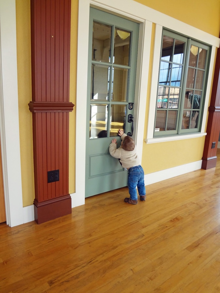 Painted Simpson 7506 Exterior Door With Beveled Glass