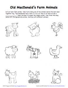 Peek-A-Boo Farm Animals Activity (Free Printable