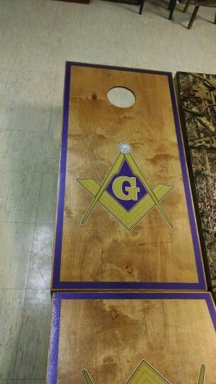 Masonic  Groves country Crafts Cornhole Boards  Pinterest