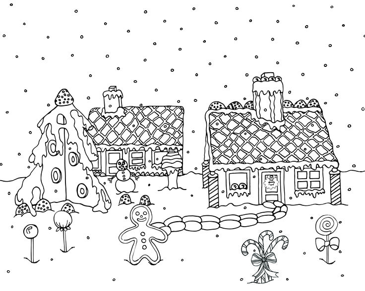 Free downloadable Christmas ginger bread houses adult