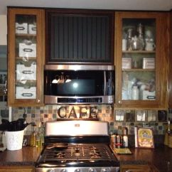 Kitchen Glass Cabinet Doors Full Set Original Inspiration : Faux Range Hood Which I Could Not ...