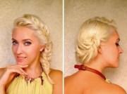 nice braid veil hair style