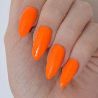 25+ best ideas about Orange nail on Pinterest | Orange ...