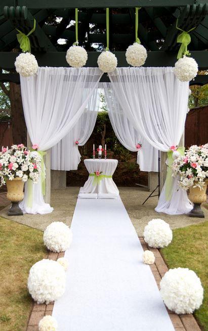 1000 Ideas About Outdoor Wedding Isle On Pinterest