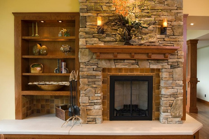 living room decorating ideas picture frames newest designs frank lloyd wright inspired residence- rustic fireplace ...