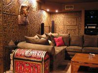 Egyptian theme home | Egyptian Tomb Home Theater Photos ...