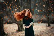 leaves blowing in wind beauty