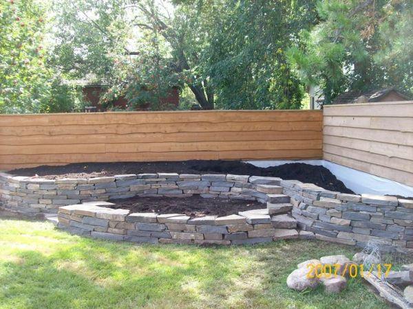 natural stone wall built