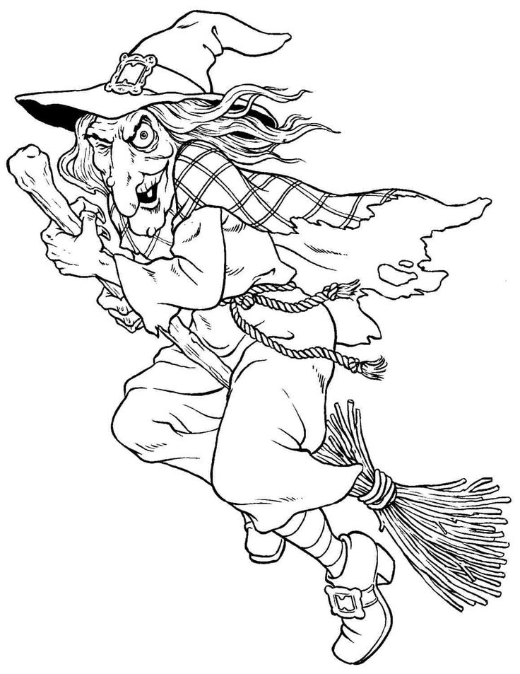Witch Coloring Pages To Print Sketch Coloring Page