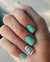 25+ best ideas about Mint green nails on Pinterest