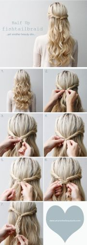 cute and simple everyday -updo