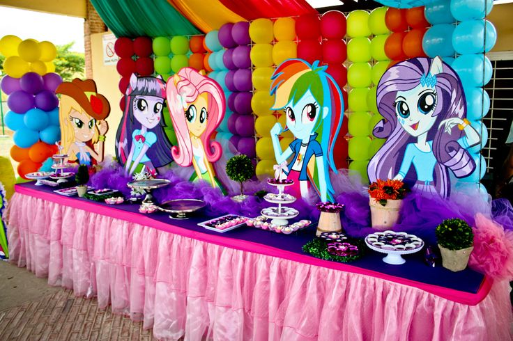 Decoracion Fiesta Equestria Girl Decoraciones Fiestas