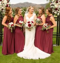 Burgundy Bridesmaid Dresses from David's Bridal with ...