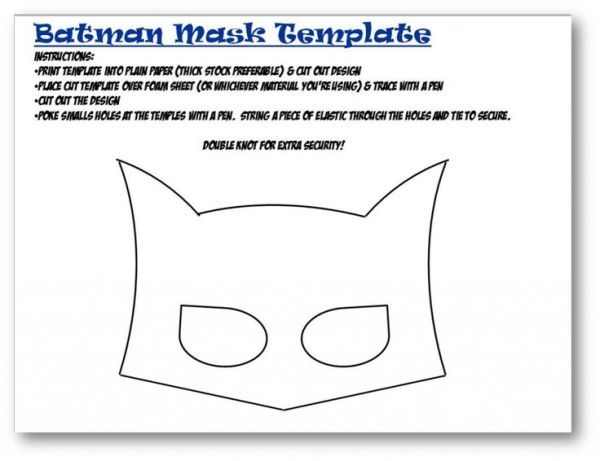 Batman mask template Felt Masks Pinterest Bakeries