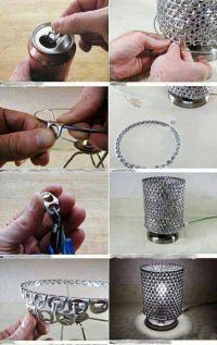 Cool Soda Can Stay-Tab Lamp - 19 Amazing DIY Home Decor ...