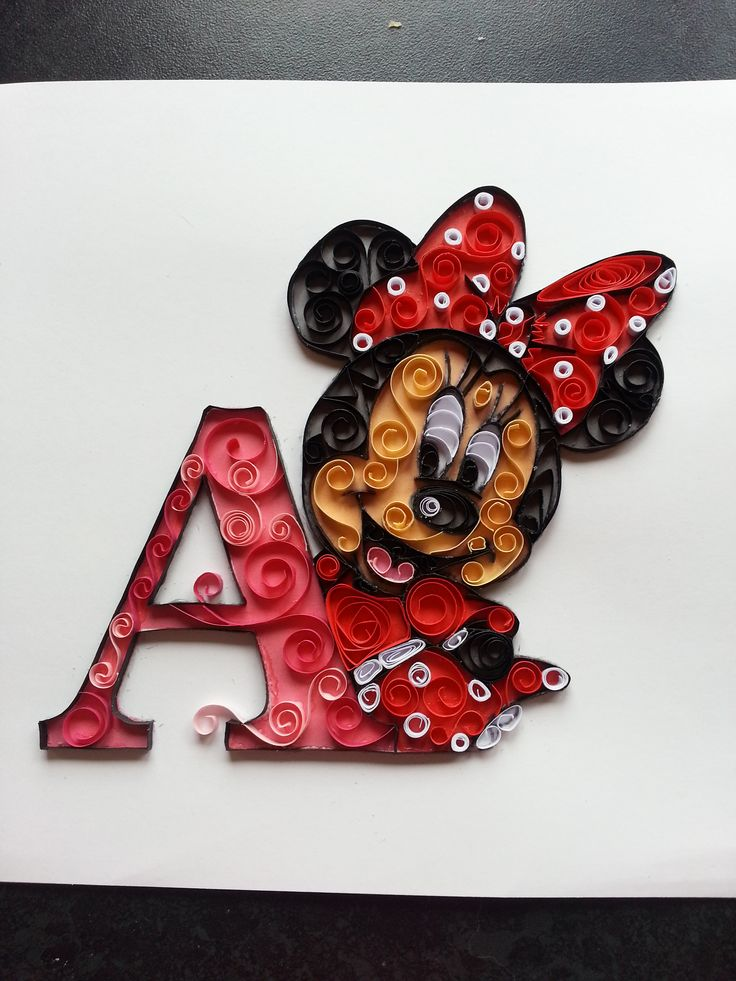 3d P Letter Wallpaper Quilling Quilled Minnie Mouse Www Facebook Com