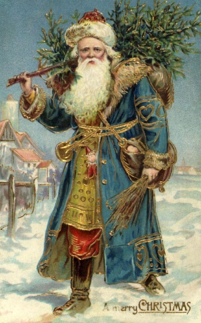 Victorian Christmas Postcards:
