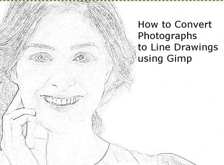 How to Convert Photographs to Line Drawings With GIMP