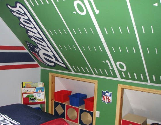 Coolest Patriots Room Ever