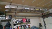 Hanging ladder above garage door. | garage organization ...