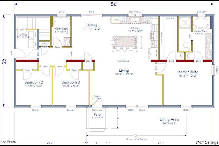 Open Concept Floor Plan.