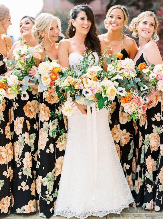 25 best ideas about Floral bridesmaid dresses on Pinterest