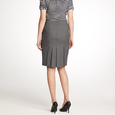 Pencil Skirt With Back Pleats In Gray Nhen Pinterest Skirts Pencil And Boxes
