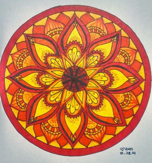 Red mandala Doodles Pinterest Mandalas Red and Sharpies