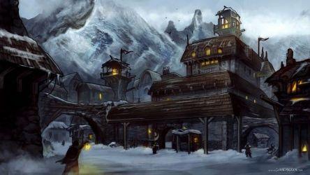 village fantasy mountain concept rpg madden shane landscape winter landscapes town dnd viking nerdy castle stuff steampunk environment castles visit