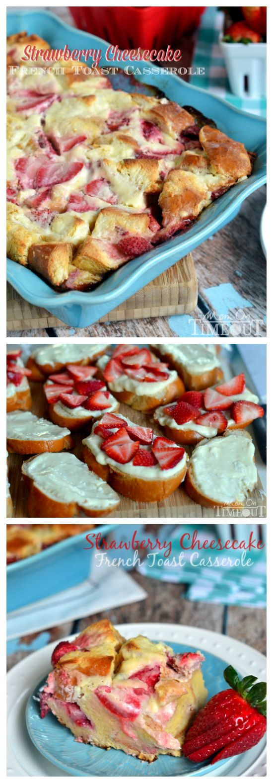 Take the hassle out of breakfast with this Overnight Strawberry Cheesecake French Toast Casserole! Enjoy t