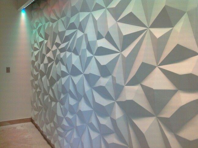 Pyramid Design 3d Wall SeamlesspaintableLED Lighting