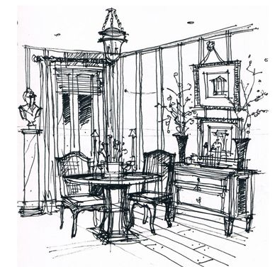 1000+ ideas about Interior Design Sketches on Pinterest